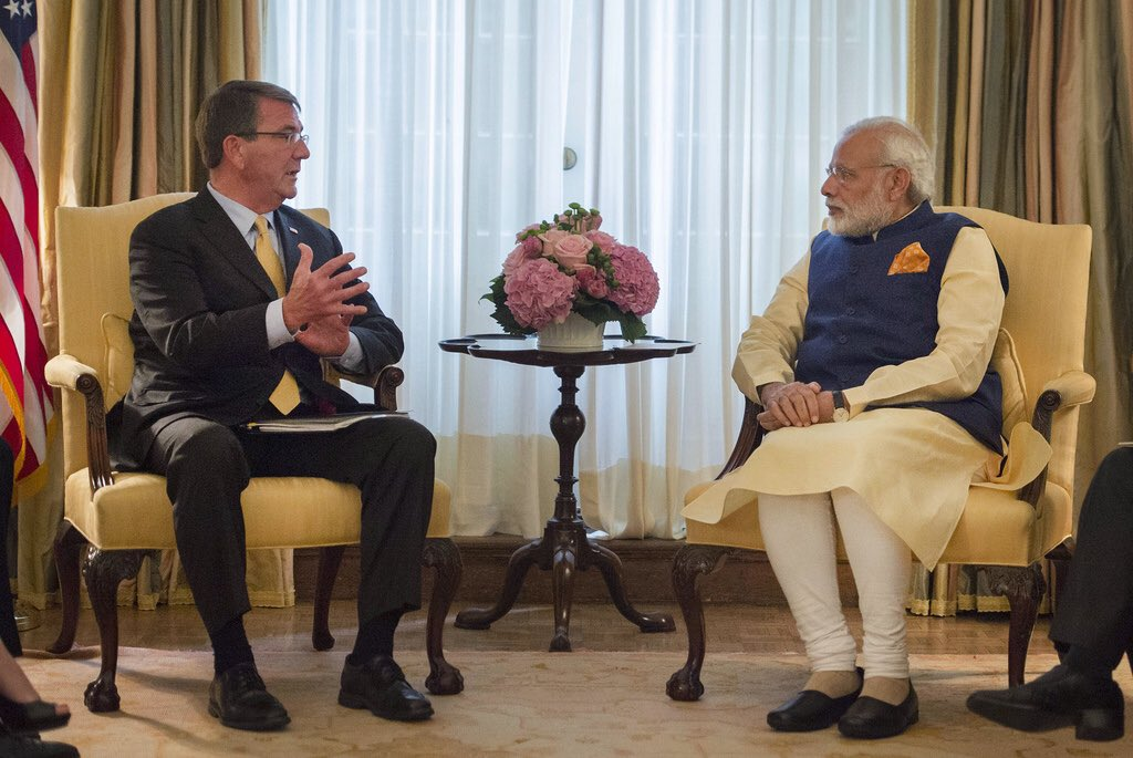 Prime Minister Modi with US Secretary of Defense