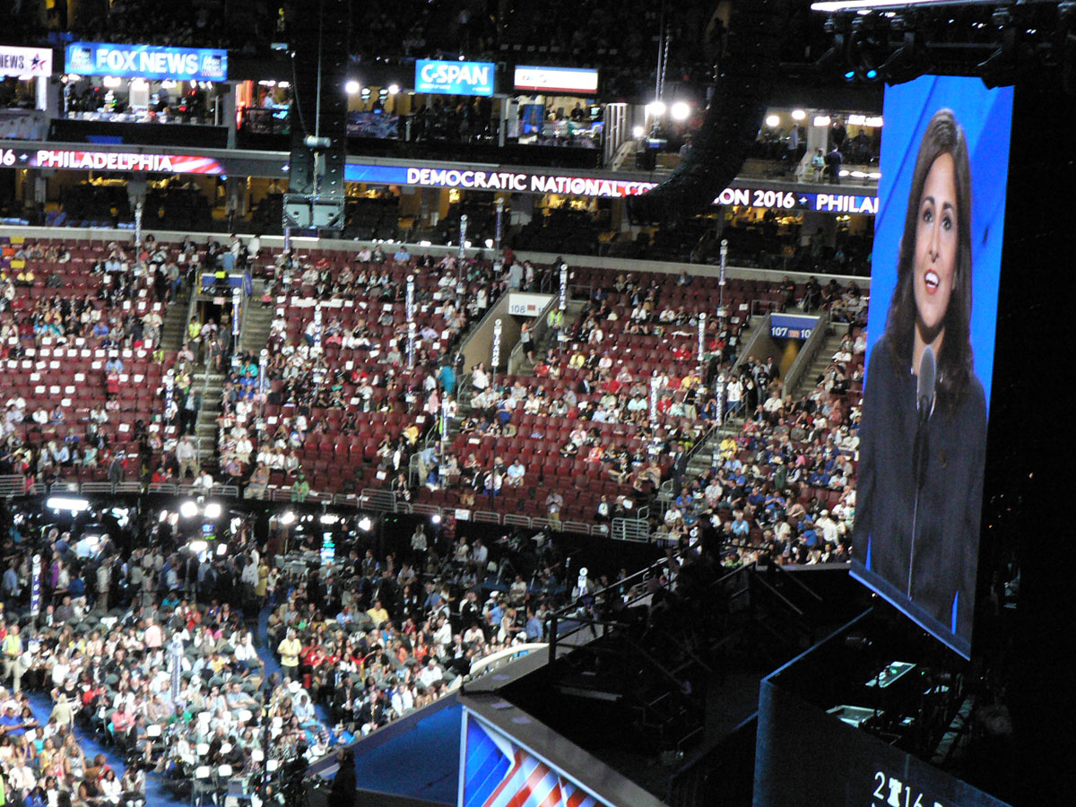 Neera Tanden, the president of the Center for American Progress Action Fund, was a speaker at the Democratic Party\'s national Convention in Philadelphia on Wednesday, July 27, 2016. (Credit: IANS)