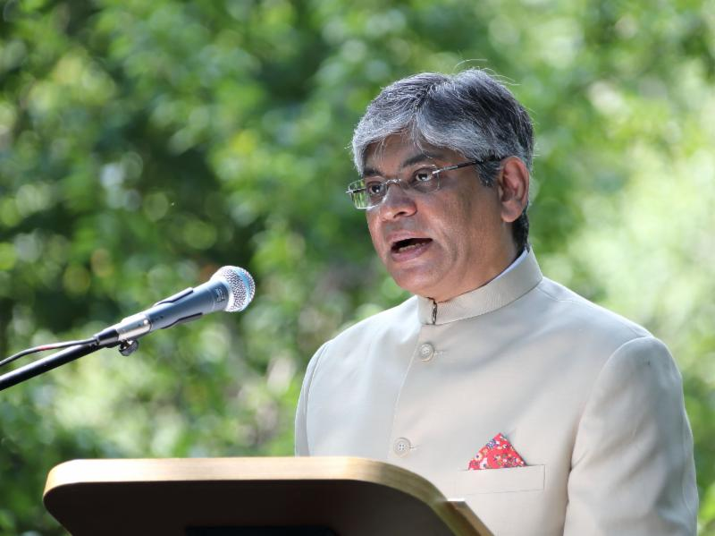 Indian Ambassador Arun Singh (file photo). he Indian Embassy here has taken up the matter with the State Department, the National Security Council and the Department of Homeland Security