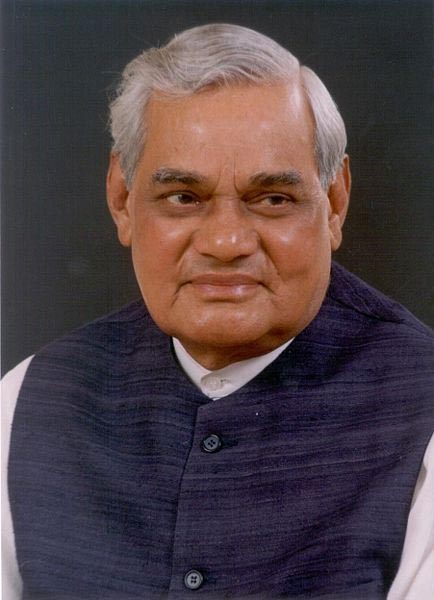 Atal Bihari Vajpayee , born 25 December 1924, was the Prime Minister of India, briefly in 1996, and again from 19 March 1998 until 22 May 2004. He retired from active politics in December 2005.  (Courtesy: Wiki India)