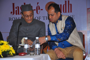 """Chef Sunil Soni and Rajya Sabha member and Congress leader Dr Karan Singh during a programme organised to release """"Jashn-e-Oudh"""" - a book authored by Soni in New Delhi, on Dec 4, 2015."""