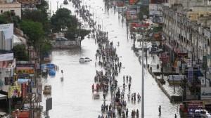Chennai flood scene (Photo courtesy: CNN)