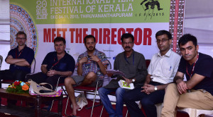 Directors meeting the press at the IFFK.