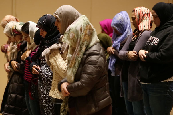 """Harvard file photo In the wake of the November Paris attacks, the shooting in San Bernardino, Calif., and an incessant anti-Muslim drumbeat from some U.S. presidential contenders, members of the Harvard Islamic community described what it's like to live under the current wave of """"Islamophobia"""" in America."""