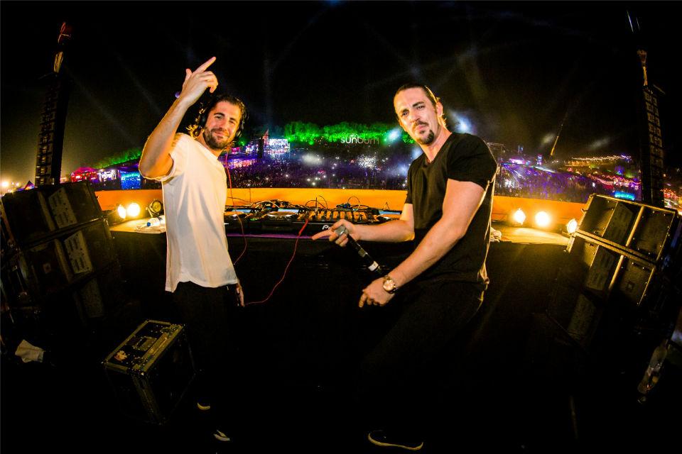 Belgian DJ duo Dmitri Vegas and Like Mike performing at the Sunburn Goa 2015. (Photo Courtesy: IANS)
