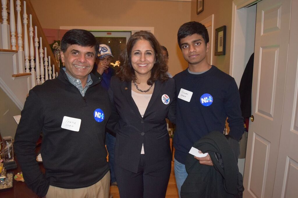 Neera Tanden with Shah