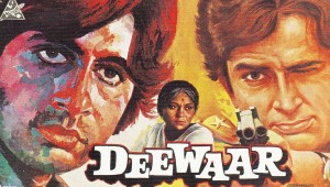 A poster of one of the top rated Bollywwod movies Deewar. Photo: CinePages.