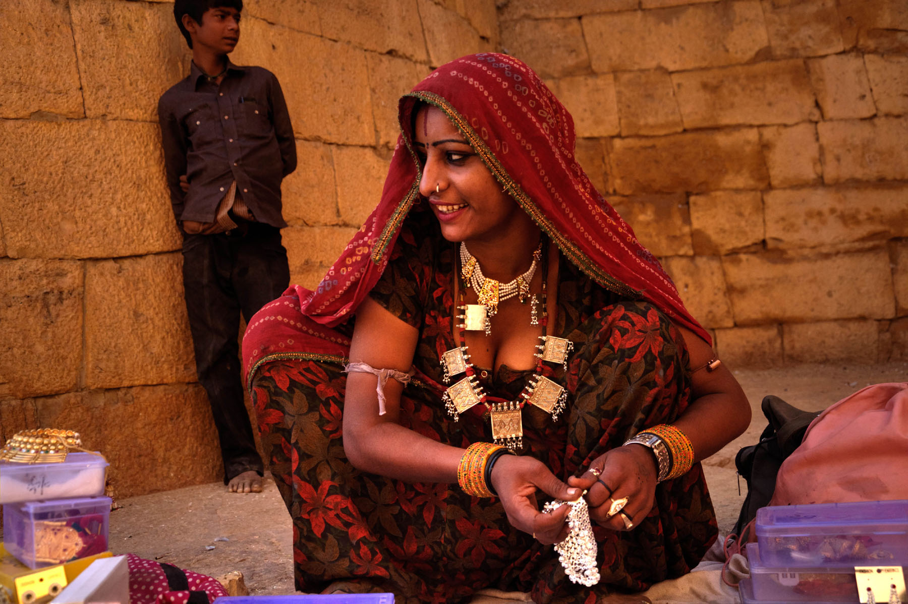 Rajasthani women selling articles at Unesco's world heritage site Jaisalmer Fort​