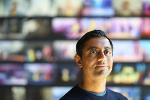 "Short film Director Sanjay Patel of ""Sanjay's Super Team"" is photographed on April 8, 2015 at Pixar Animation Studios in Emeryville, Calif. (Photo by Deborah Coleman / Pixar)"