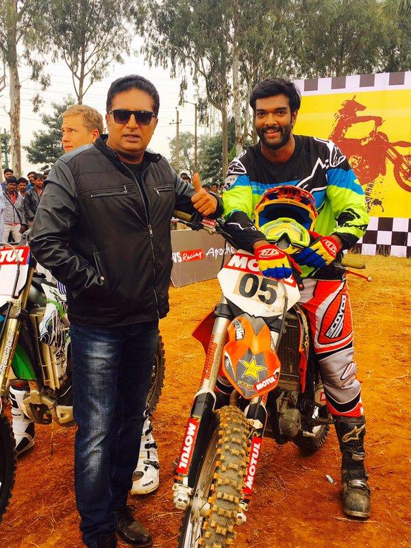 Charandeep with Prakash Raj