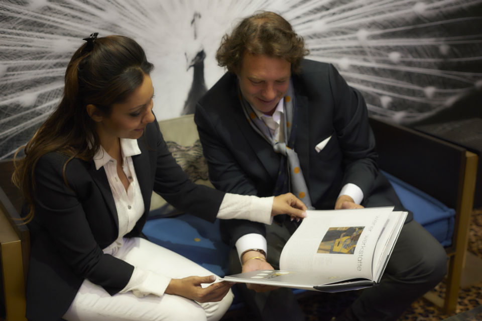 Gauri Khan with Jean Francoise L'Sarge at Maison&Objet