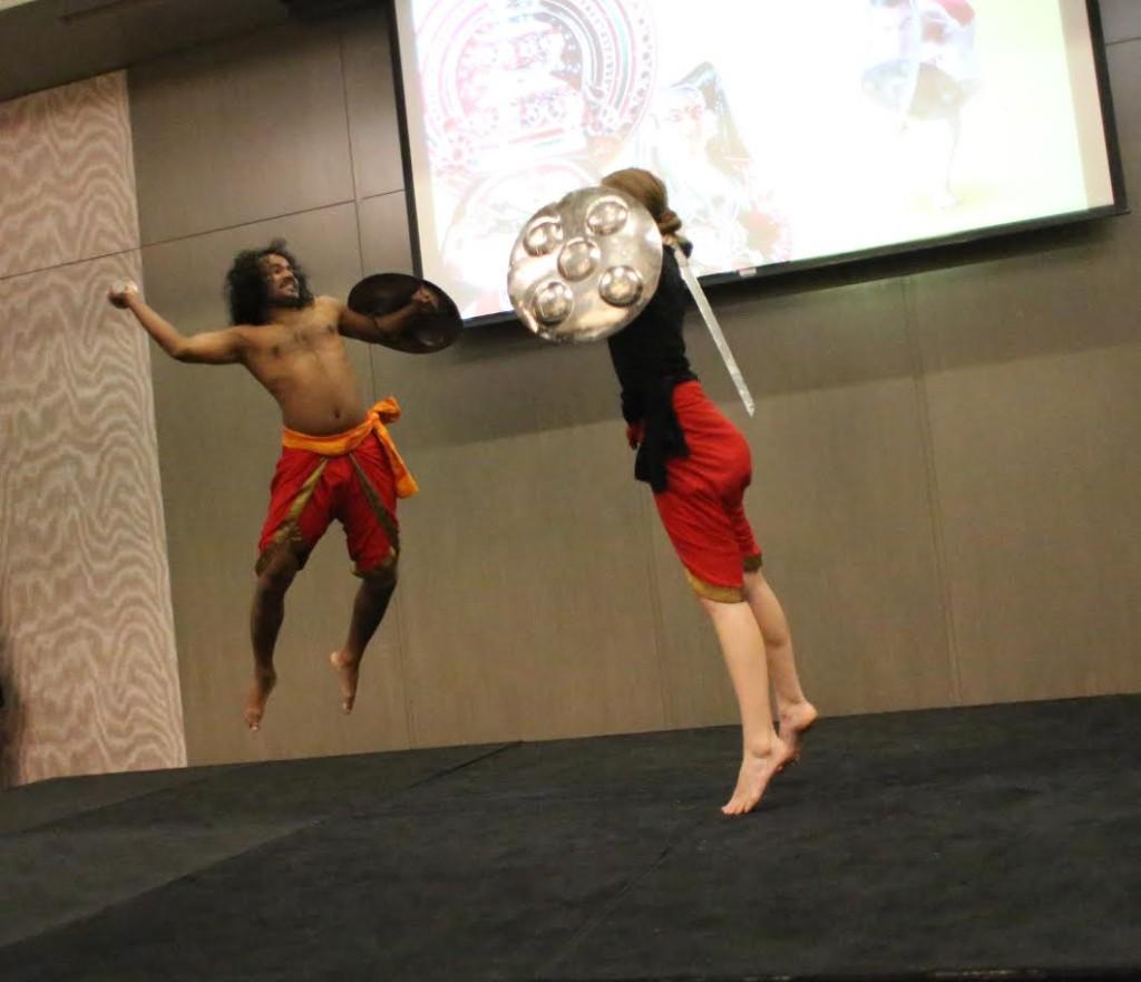 Kalaripayattu performance organised by Kerala Tourism at Palo Alto in California's Silicon Valley