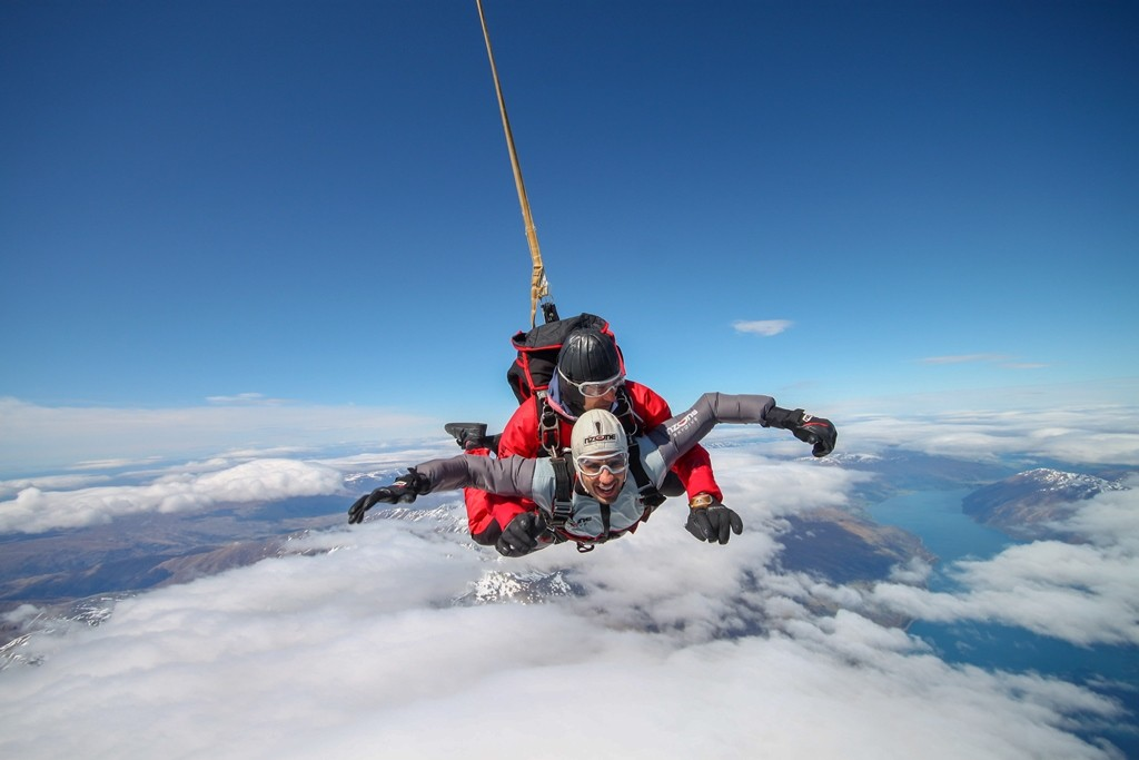 Skydiving in Queenstown is a surreal experience.