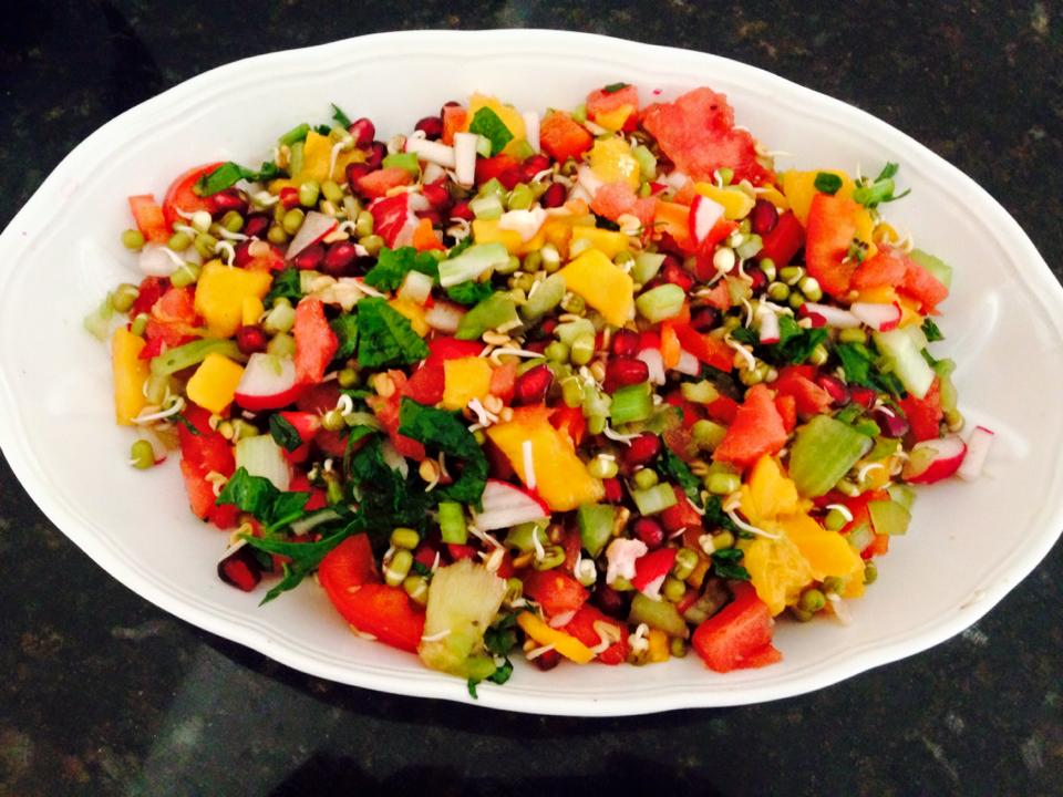 Colorful spicy salad