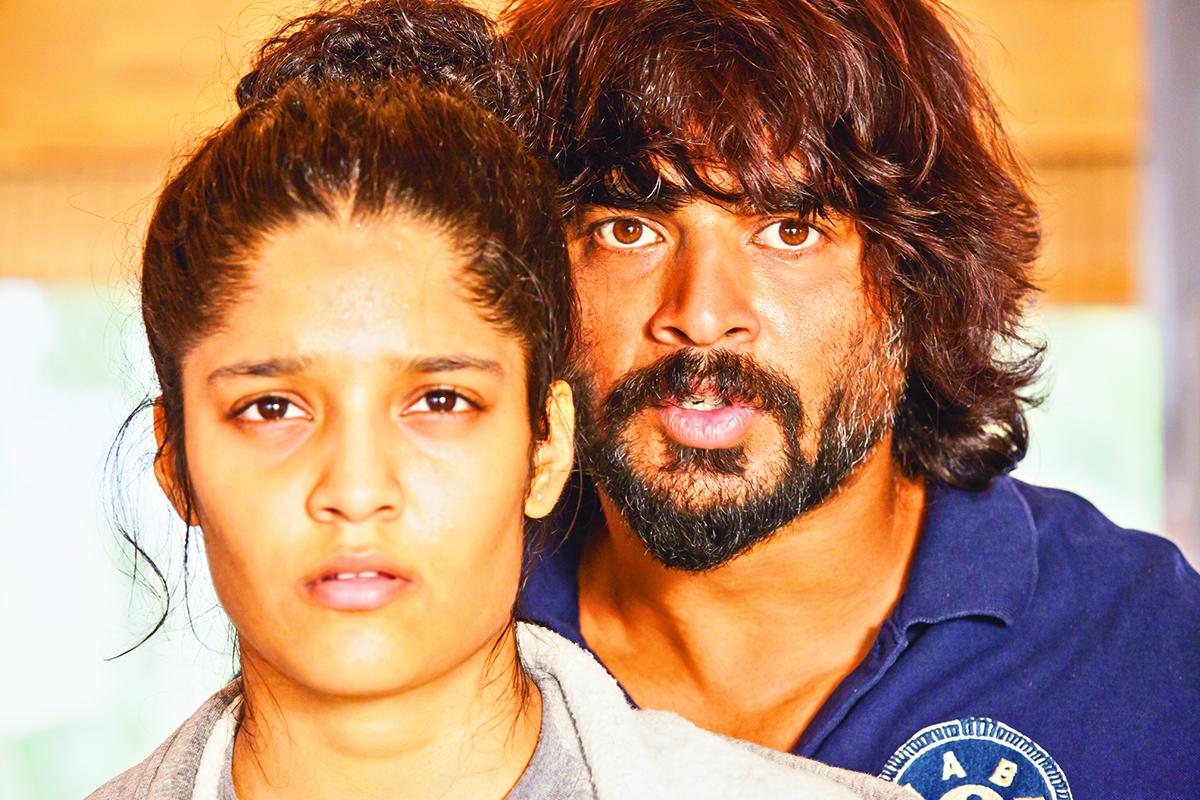 Actors Ritika and Madhavan