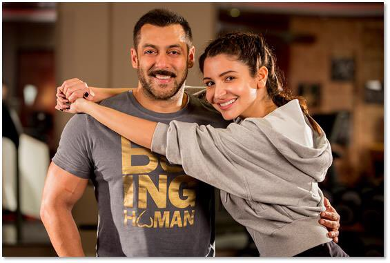Bollywood actress Anushka Sharma and Salman Khan