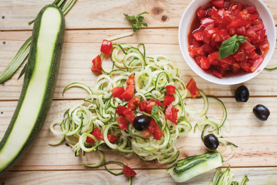Surprising Zucchini Noodles with Primavera Sauce