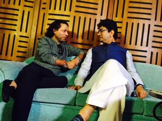 Kailash Kher with Prasoon Joshi