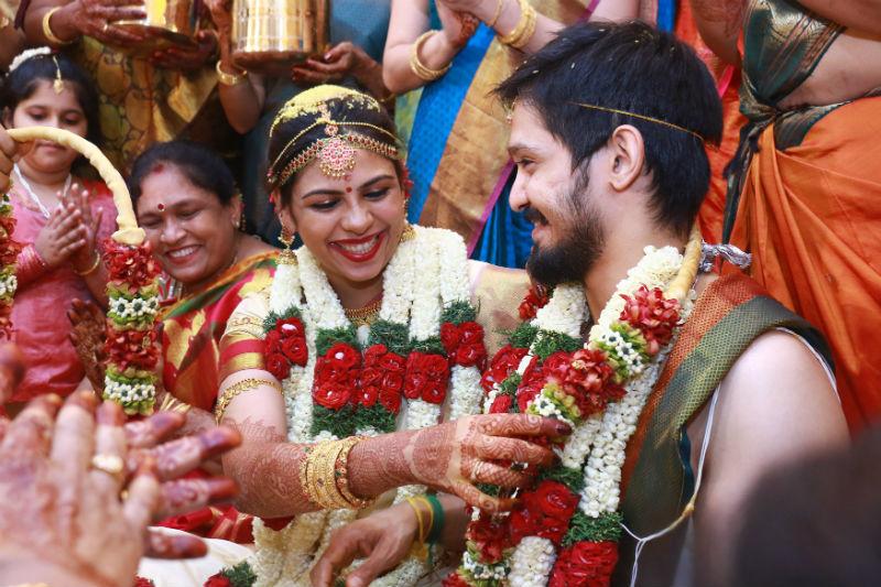 Actor Nakul and Sruti Bhaskar