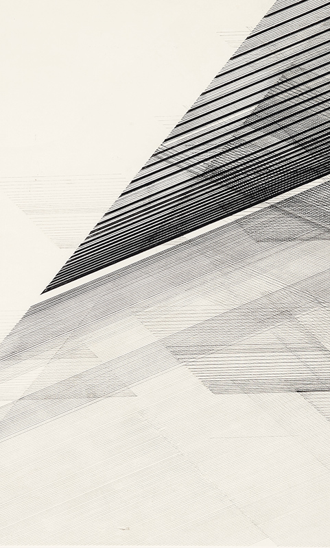 Nasreen Mohamedi (Indian, 1937–1990). Untitled, ca. 1975. Ink and graphite on paper; 20 x 28 in. (50.8 x 71.1 cm). Sikander and Hydari Collection