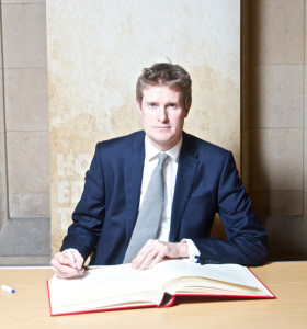 British MP, historian and author Tristram Hunt