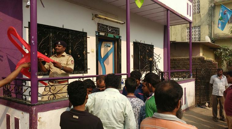 The house in Thane where the murder took place. Express Photo courtesy by Deepak Joshi and Indian Express.