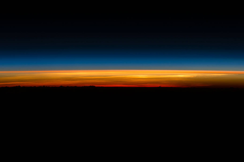 NASA astronaut Scott Kelly shared a series of five sunrise photographs on Tuesday, March 1, 2016, as he prepared to depart the space station and return to Earth aboard a Soyuz TMA-18M spacecraft. Kelly and Russian cosmonauts Mikhail Kornienko and Sergey Volkov are scheduled to undock their Soyuz at 8:02 p.m. EST and land at 11:25 p.m.