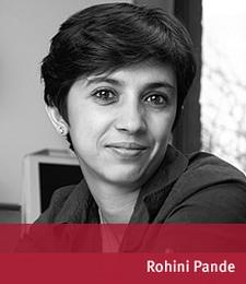 Rohini Pande (Photo courtesy: Harvard University)