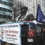 Ambedkar Float Outide the United Nations in New York