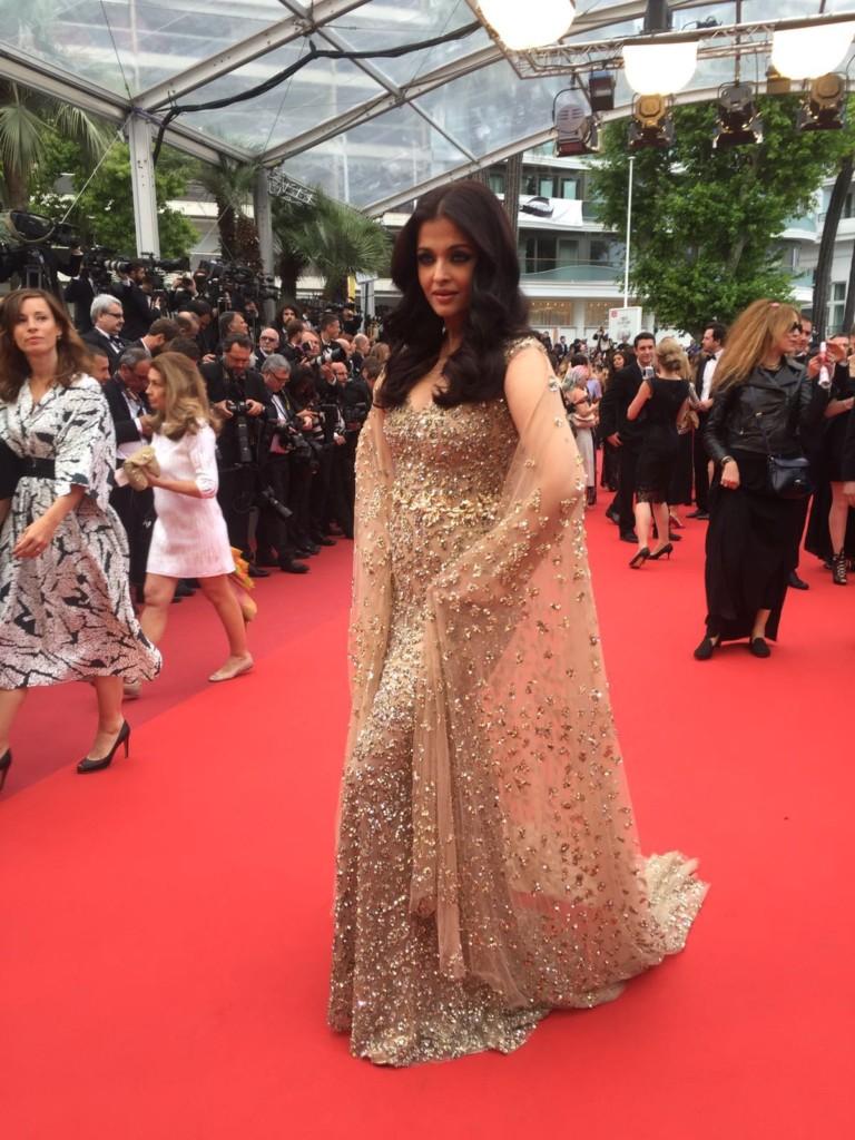 L'Oreal Paris ambassador Aishwarya Rai Bachchan on the Cannes red carpet