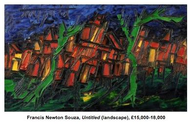 Francis Newton Souza, Untitled (Landscape)