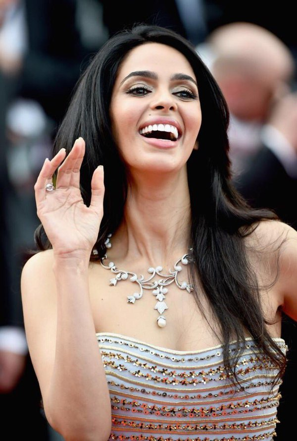 Actress Mallika Sherawat at 69th Cannes Film Festival. (Photo Courtesy: Twitter)