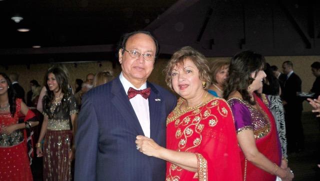 Ramesh Motwane with his wife Rita.