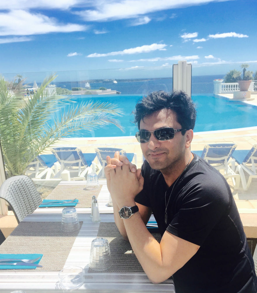 Chef Vikas Khanna at 69th Annual Cannes Film Festival for world premier of his documentary Kitchens of Gratitude 2