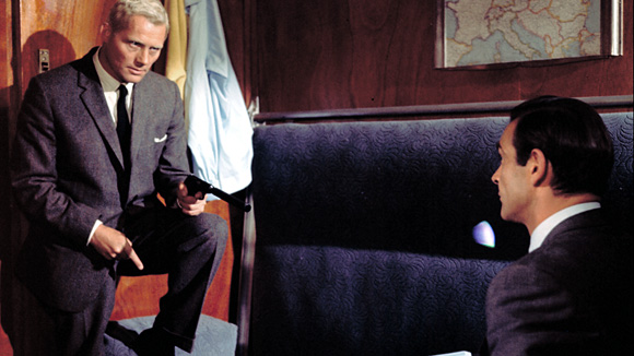 """A climatic episode in James Bond's """"From Russia With Love"""" aboard the Orient Express"""