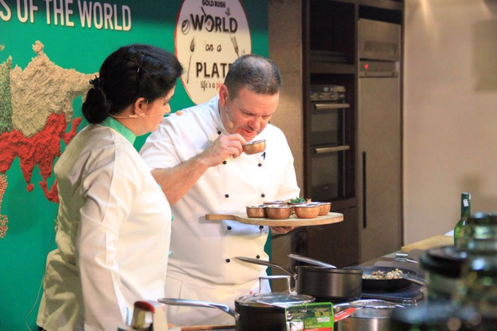 Australian Masterchef Gary Mehigan and Chef Pankaj Bhadouria at Knorr Masterclass