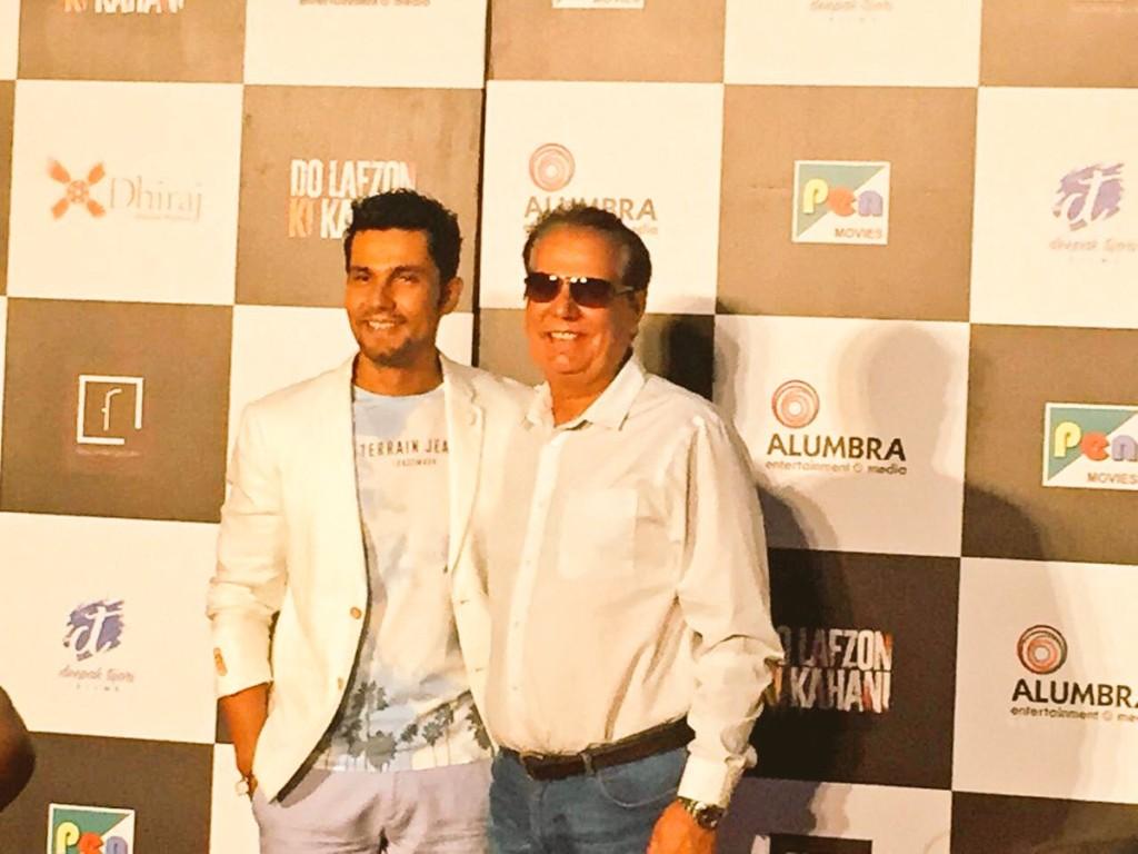 Randeep Hooda with his dad.