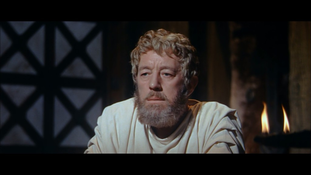 """Emperor Marcus Aurelius, played by Alec Guinness, in """"The Fall of the Roman Empire"""" (1964)"""