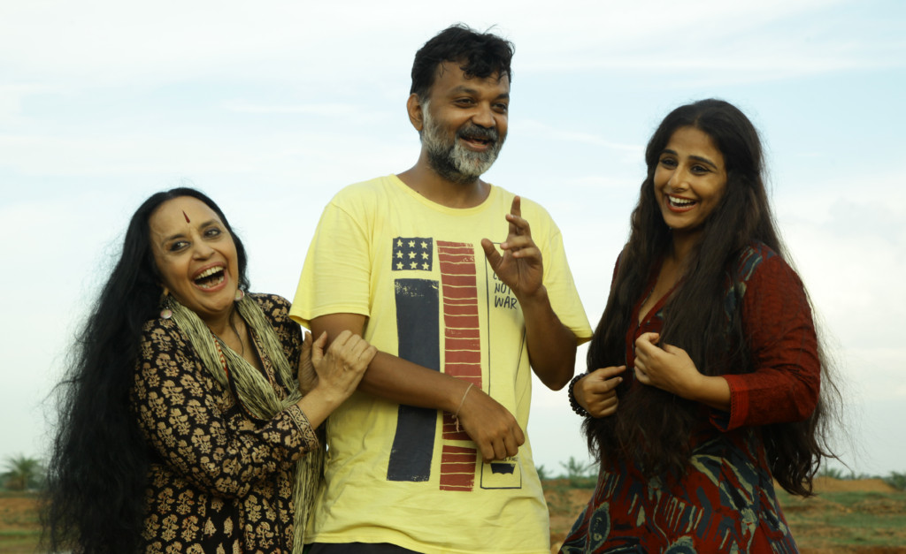 Vidya Balan, Srijit Mukherjee and Ila Arun on sets of Begum Jaan