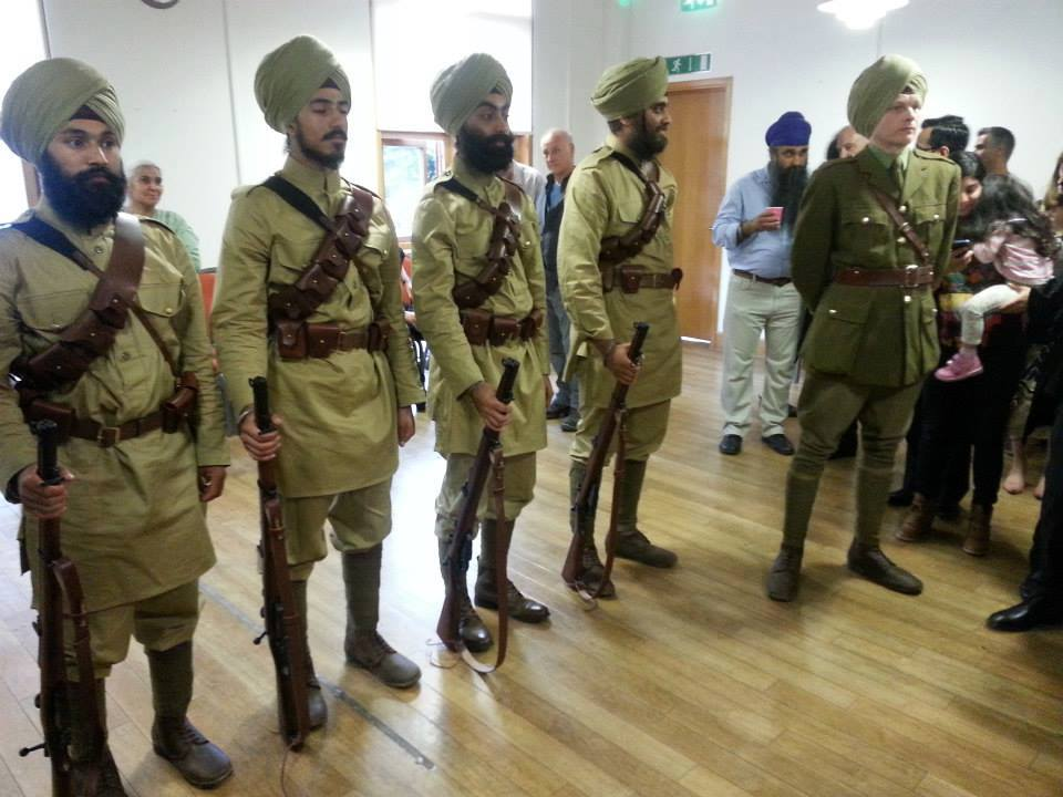 Picture of the Day at the 'Empire, Faith & War: The Sikhs and World War One' exhibition at the Brunei Gallery,Univ. of London yesterday. These were the Uniforms the Sikh Soldiers wore in 1914 when they landed in France. (Photo: Facebook)