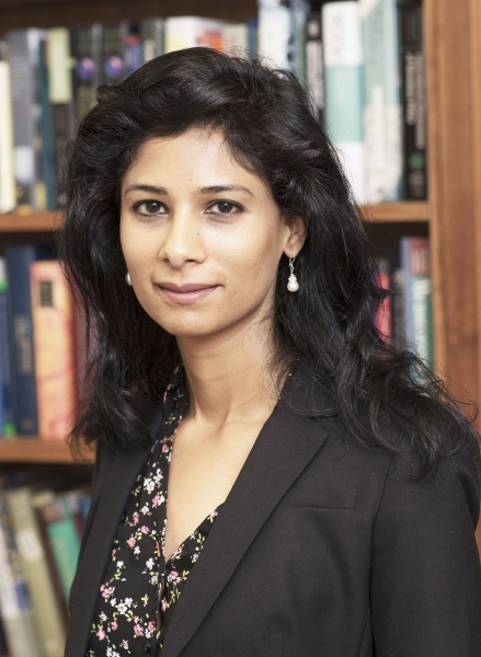 Gita Gopinath (Photo courtesy: Harvard University)