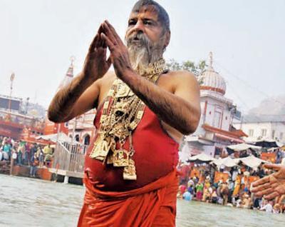 Golden Baba (Photo courtesy: Times of India)