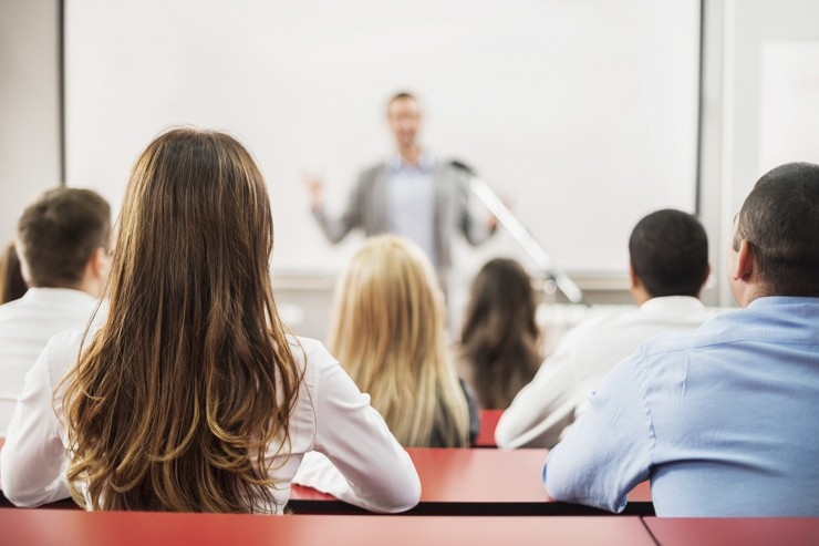 Want to ace your next presentation? Then tune out your inner critic, make eye contact, and utilize deliberate pauses, says Mary Cheyne, the faculty advisor of Northeastern's chapter of Toastmaster's International and the runner-up in the 2009 World Championship of Public Speaking. Photo by iStock.
