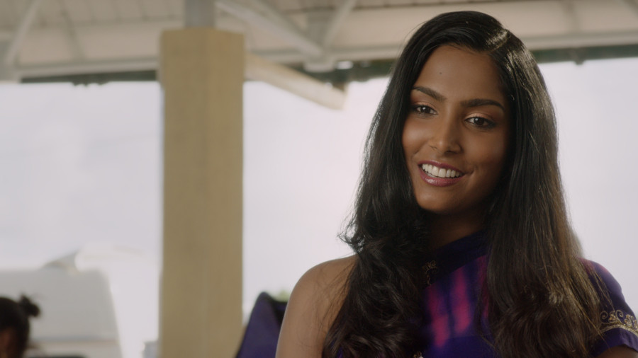 """London born actress Natalie Perera who portrays a girl with East-Indian heritage in \""""Bazodee\"""" - a Bollywood musical love story set in the colourful island of Trinidad."""
