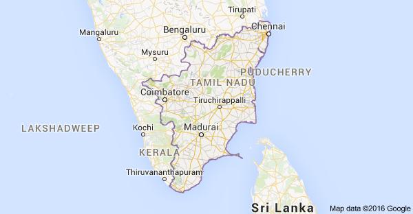 Tamil Nadu-Map