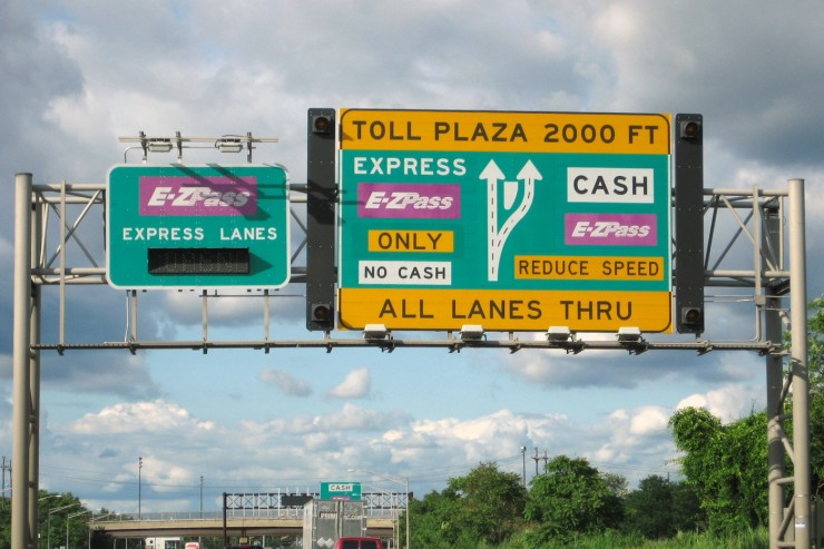 The Massachusetts Turnpike will soon have all-electronic tolls. Image from Flickr