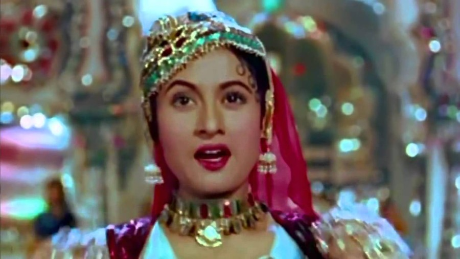 """Actress Madhubala performs to """"Pyar Kiya to Darna kya"""", one of the uncompromising and boldest love songs in Hindi films, penned by Shakeel"""