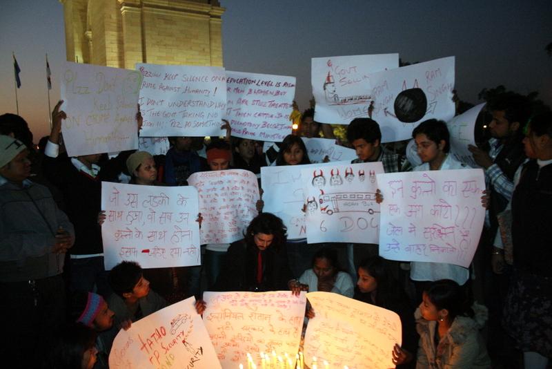 Silent protest in India (File photo: Wikipedia)