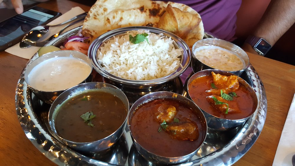 A thypical Thali at Saffron Indian Grill (Photo Courtesy: Yelp)