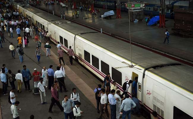EMAIL PRINT 28 COMMENTS Heavy Rain Delays Arrival Of High Speed Talgo Train In Mumbai Talgo train, India's fastest train, with 9 lightweight coaches arrives in Mumbai. (Photo courtesy: AFP)